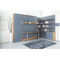 Cheap MDF With Melamine Modern Wall Bed With Bookshelf And Table For Home And Hotel for sale