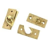 China Concealed Pivot Hinge - 50 x 19mm - Self Colour Brass on sale