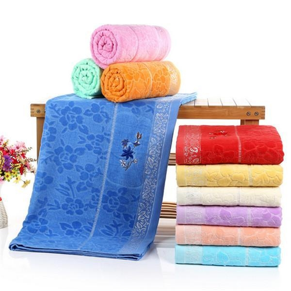 Velour Bath Towels Wholesale: Velour Embroidered Large Bath Sheets With Certificate Of
