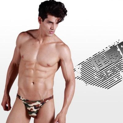 Quality Unique New Cool Men's Sexy Camouflage Underwear Shorts Briefs Low Rise Hot wholesale