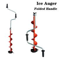 China V0204 Folding handle curved blade hand ice auger on sale