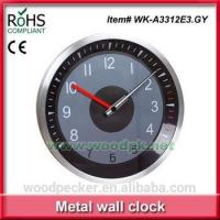 Cheap Woodpecker silent sweep wall clock promotional metal clock wholesale wall clock for sale