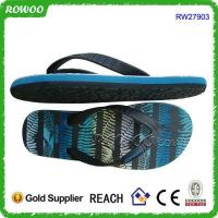 China Men printing rubber beach flip flops slippers on sale