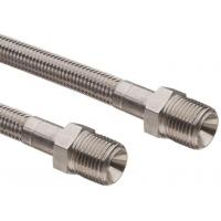 Buy cheap Stainless Steel High Pressure Braided Ptfe Hose With 1/4 Inch Npt Male from wholesalers