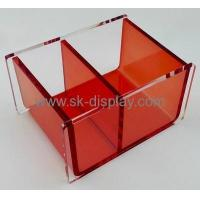 Cheap Factory custom plastic box custom printed tissue box clear acrylic box with dividers DBS-097 wholesale