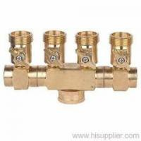 China Brass 4-way hose connector on sale