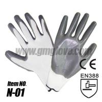 Cheap 13G Grey Nitrile Coated Nylon Gloves,Palm Coating for sale