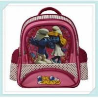 silk painting carton picture of school bag for kids and child
