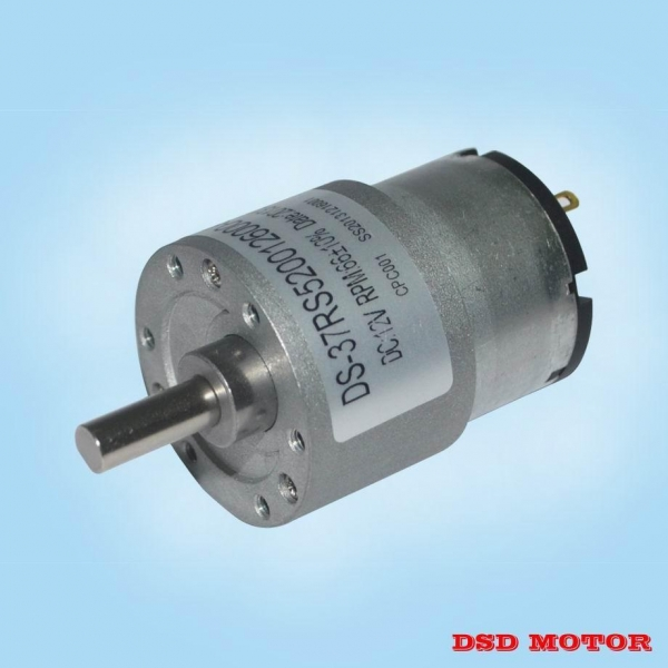 Ds 37rs520 37mm 12v 24v dc electric motor with gear for Reduction gearbox for electric motor