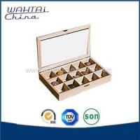 Cheap Wooden tea box with compartments for sale