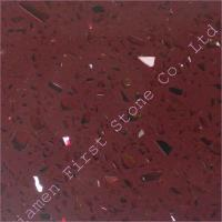 Buy cheap Red Artificial Quartz Stone HPQG147 from wholesalers