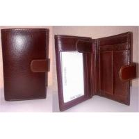 China Id:CAC2001067,Cactus Brown Tri-Fold Leather Wallet on sale