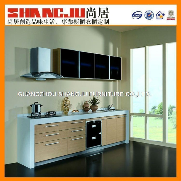 Modern Acrylic Kitchen Cabinet With Certificate Of Wood
