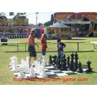 Cheap King Tall 25 Inch Giant Garden Outdoor Chess Set with Plastic Board for sale