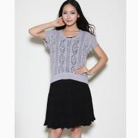 Cheap Ladies jaquard sweater with hand crochet Y12102 for sale