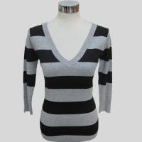 Cheap Women fashion knitted striped long sleeves sweater Y197 for sale