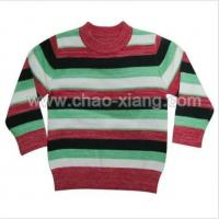 Buy cheap Kids round neck striped pullover sweater (CXK12010) from wholesalers