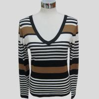 Cheap Fashion knitted long sleeves striped sweater for women Y192 for sale