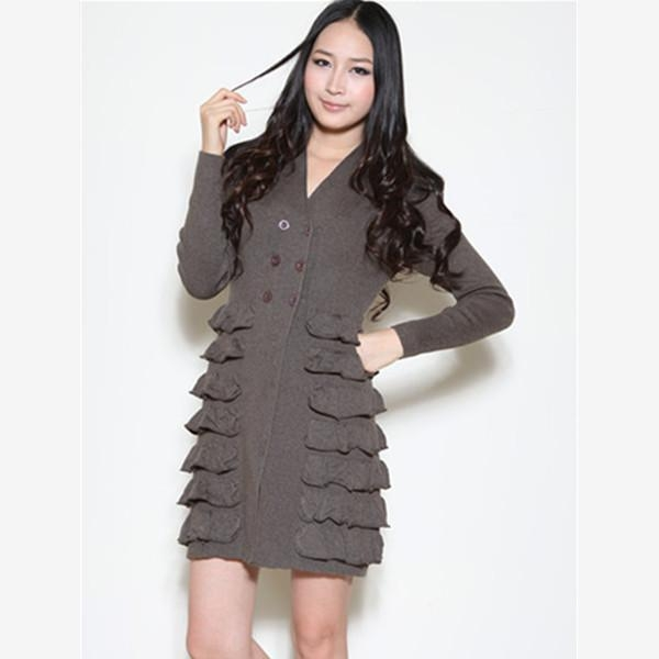 China Women knitted cardigan dress Y12104