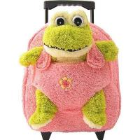 Cheap Kids-Beige-Rolling-Backpack-With-Frog for sale