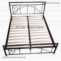 China wood slat bed queen on sale