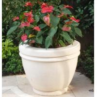 Cheap White Marble Stone Vase for Landscaping for sale
