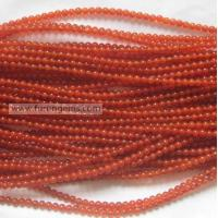 red agate 4mm round beads