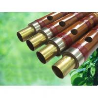 Professional bamboo flute Dizi with ox horn ring end