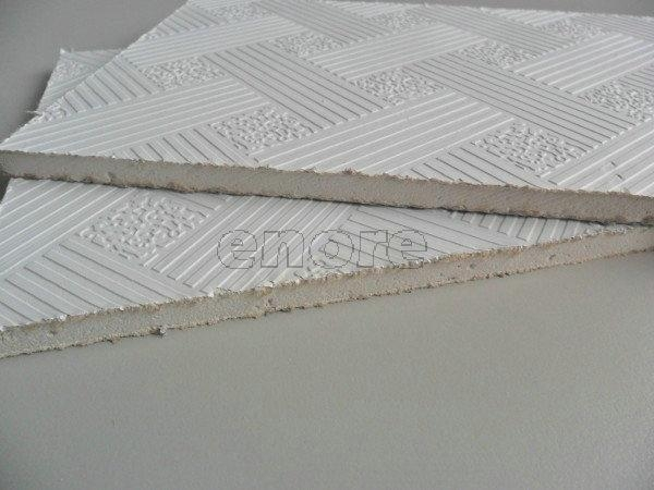 Quality 567# Vinyl laminated gypsum ceiling tile wholesale