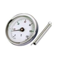 Cheap bimetal thermometer for pipe (with spring) for sale