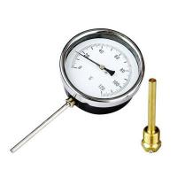 Cheap bimetal thermometer for pipe(hot water meter) for sale