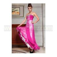Cheap Deep pink A-Line strapless sexy prom dress for sale