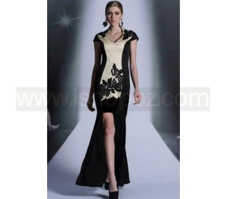 Quality Chinese Style High Collar Embroidery Sheath HI-LO Mermaid Dresses, Mother of the Bride Dress wholesale