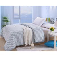 Buy cheap Blue strip cotton quilting summer blanket from wholesalers