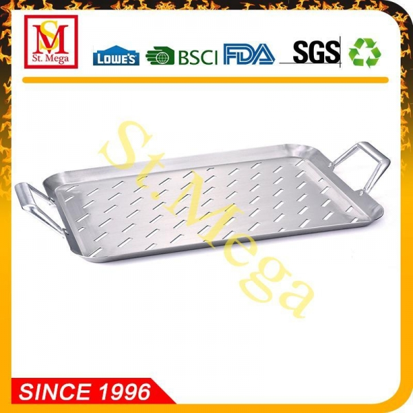 BBQ Grill Topper 17.3 x 11.8-Inch Stainless steel ...