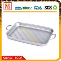 China BBQ Grill Topper 15 x 11-Inch Non-Stick Square Grilling Pan on sale