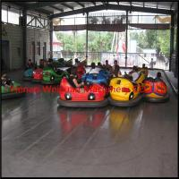 amusement rides steel floor electric net bumper car
