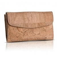 Cheap Good quality wholesales price women cork leather handmade wallet for sale