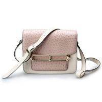 Buy cheap Good quality low price ostrich cow leather small cell phone single shoulder bag for girls from wholesalers