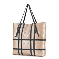 Buy cheap Fashion design python cow leather two sided shoulder bag for women from wholesalers