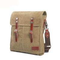 Professional oem odm good quality canvas leather bike messenger bag for men