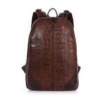 Buy cheap New design trendy aligator texture cow leather school laptop backpack for men from wholesalers