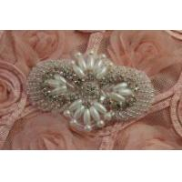 Beaded Rhinestone applique,crystal rhinestone patch for Garment Accessories Hair Accessories