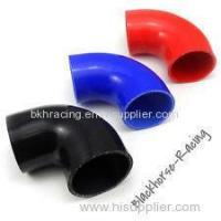 """Cheap 4"""" to 3"""" Black 90 degree Reducer Elbows Silicone Hose 102mm to 76mm for sale"""