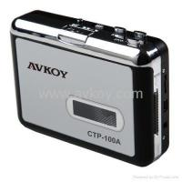China Audio USB Portable Cassette-to-MP3 Converter Capture Tape Player with Headphones on sale