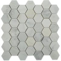 Buy cheap Marble Mosaic Tile Asian statuary white hexagon tile from wholesalers