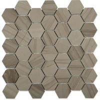 Buy cheap Marble Mosaic Tile Athens grey marble hexagon mosaic tile from wholesalers