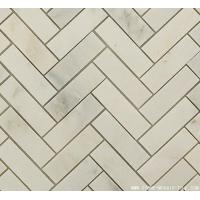 Buy cheap Marble Mosaic Tile China statuary marble herringbone tile from wholesalers