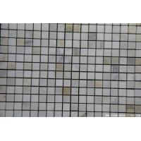 Buy cheap Marble Mosaic Tile Calucuta white gold marble mosaic tumbled from wholesalers