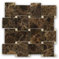 Buy cheap Marble Mosaic Tile Emperador dark with crema mafil dot marble tile from wholesalers